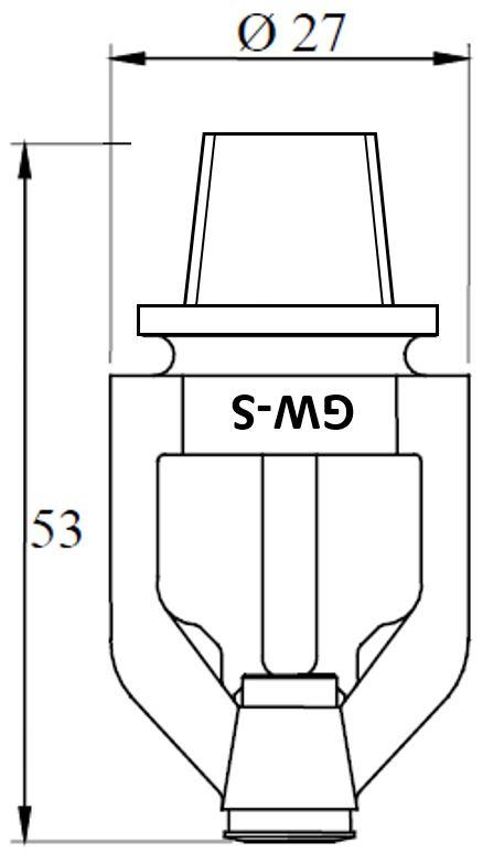 10mm GW-S Detector, K57, Standard response.