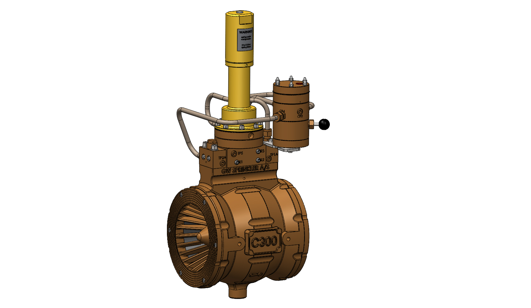 Automatic Water Control Valve, with Pressure Control + Pneumatic Actuator