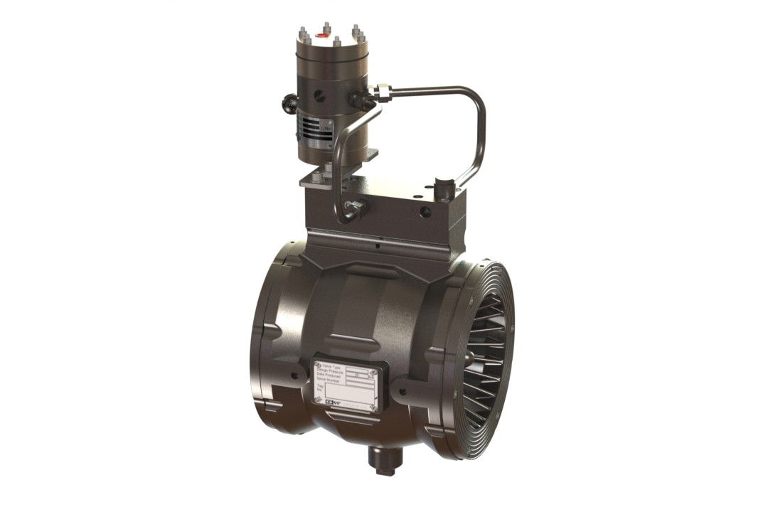 Automatic Water Control Valve, Non Regulating with Strainer & Restrictors + Pneumatic Actuator (Latching)